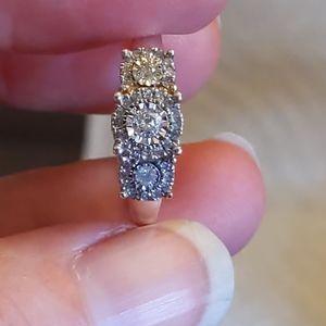 Diamond Cluster Anniversary Engagement Ring